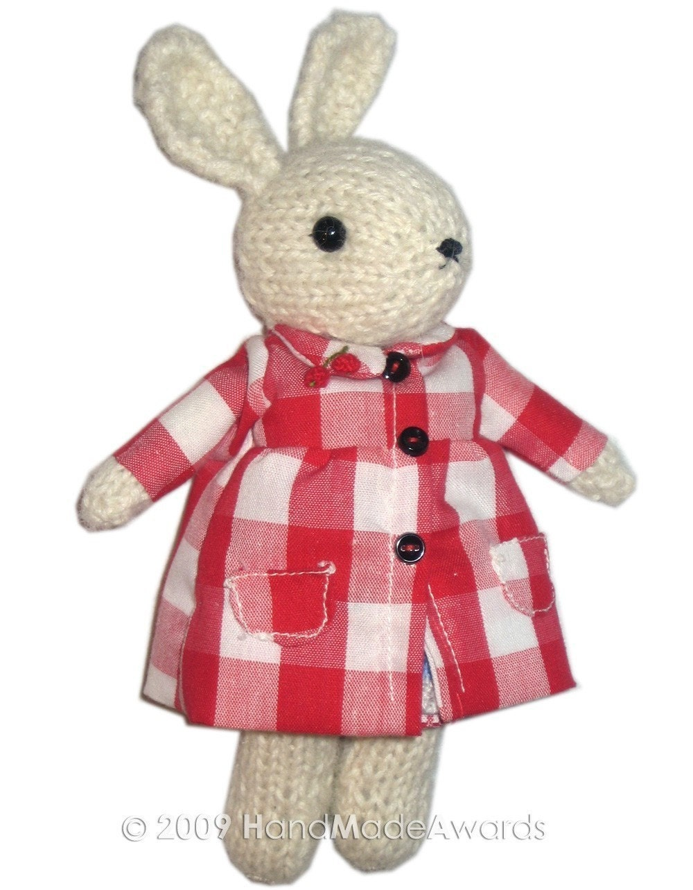 Lovely BUNNY with her FRUIT SHOP PDF email KNIT PATTERN
