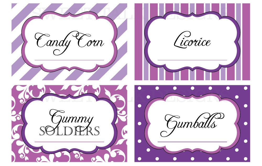 Printable Candy Buffet Labels for Wedding or by ...
