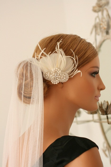 LILI - Vintage Inspired, Petite, Bridal Fascinator Headpiece