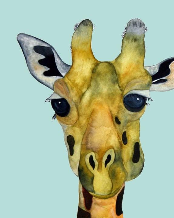 Giraffe Art - Taffy...8x10