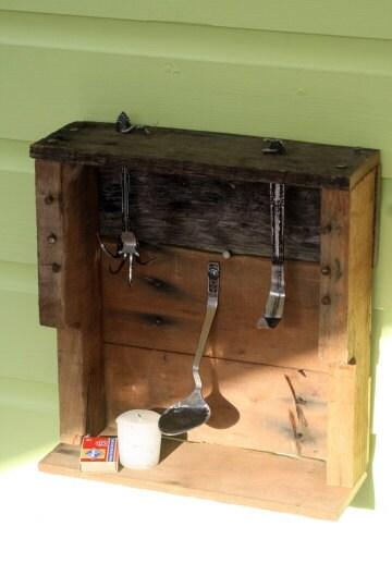Vela envío gratuito Titular Shadow Box palet de madera y cubiertos upcycled la vendimia