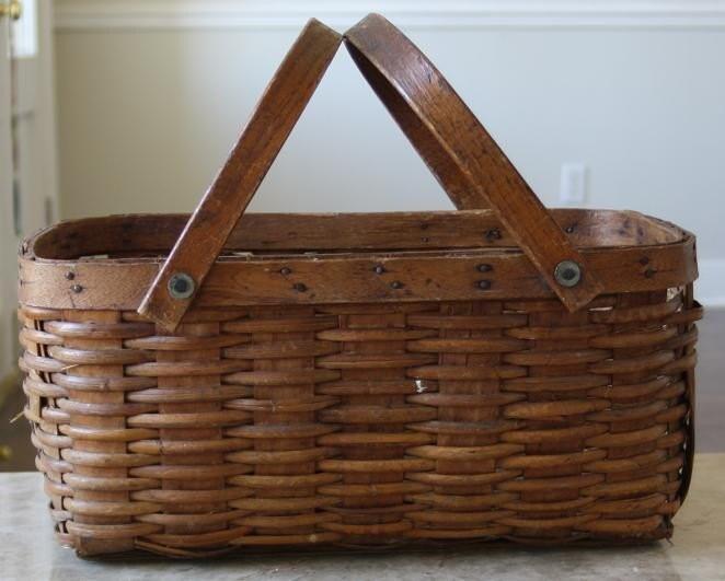 Gorgeous Antique Picnic Basket