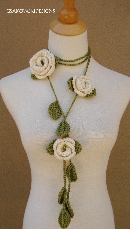 Rose Lariat-Cream
