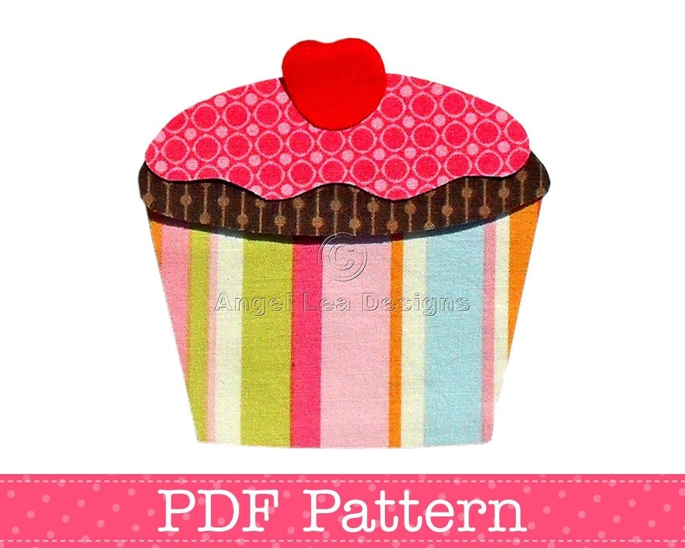 Iron On Cupcake Patch/Applique Pattern and Tutorial PDF