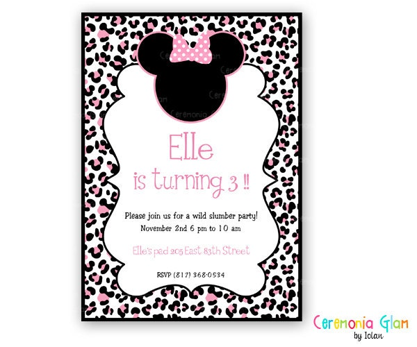 Leopard Print Invitations Templates as good invitations ideas