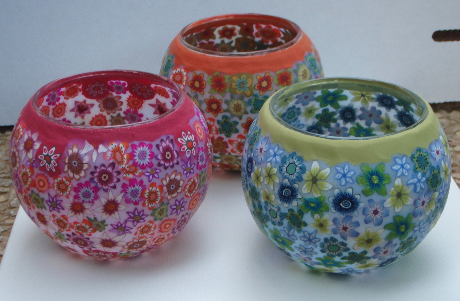 Decorative Candle Holders Trinas Trinketts Part 24 The Polymer Clay Artwork Of The Pceteam