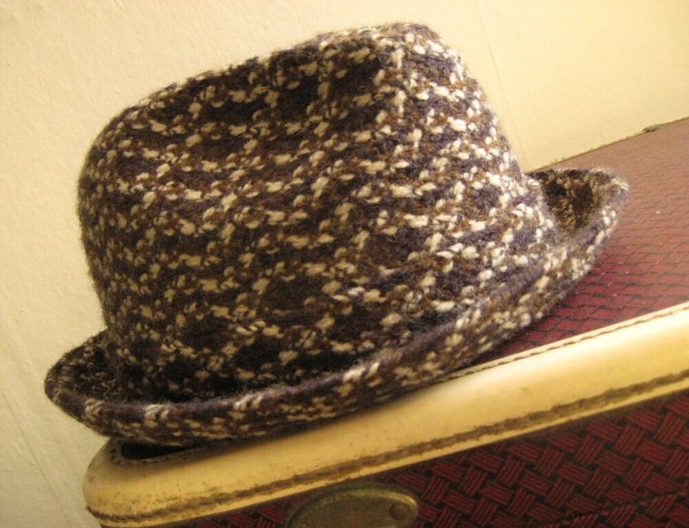 Fantastic Men's Stetson Tweed Fedora - Mid-Century Fine