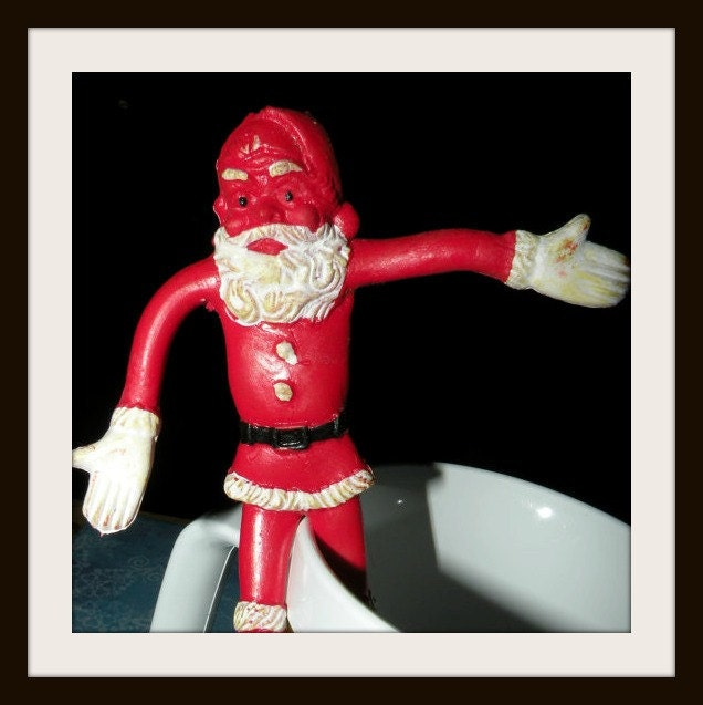 santa claus bendy on Etsy