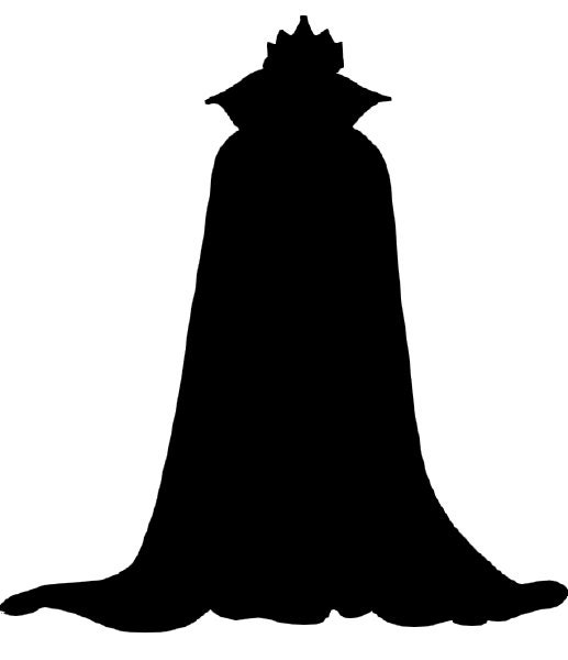 Snow White Evil Queen Silhouette Decal