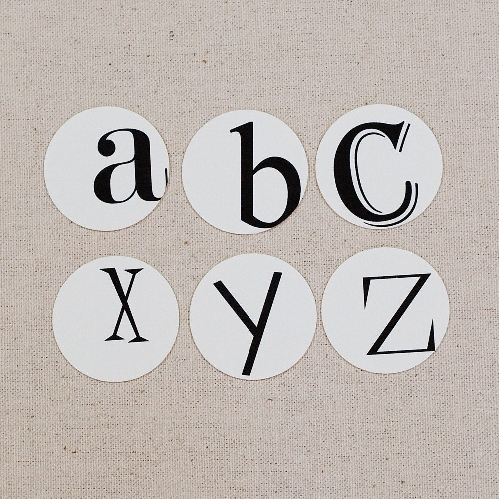 Random Alphabet Tags