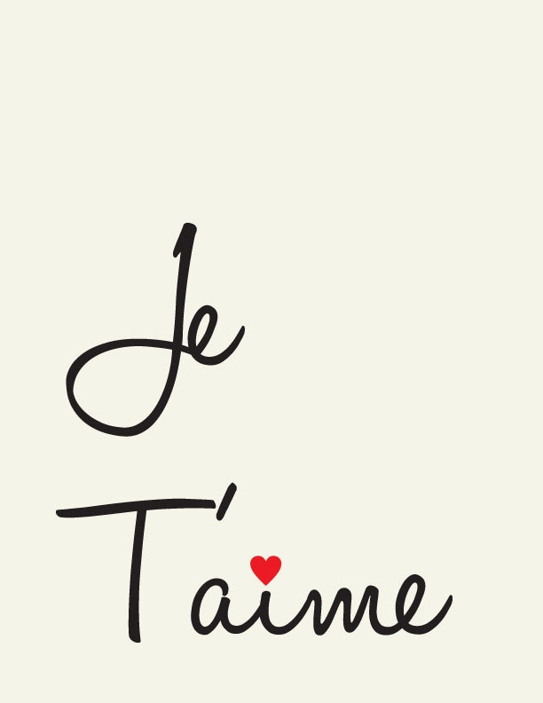 I Love You Pictures N Quotes : Items similar to Je Taime // I Love you // French love quote // Art ...