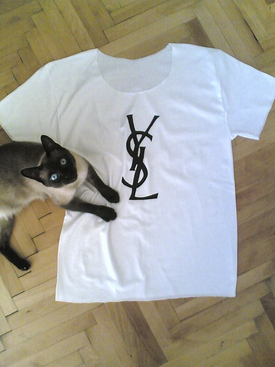 YSL Inspired Stylish Basic White Tee