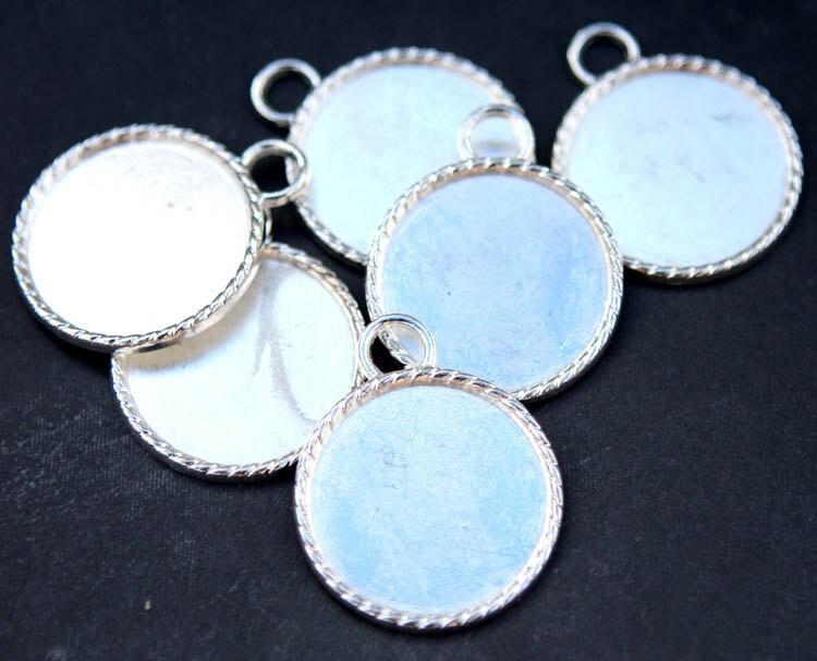 25mm pendant tray blanks wholesale 25mm bezel setting by