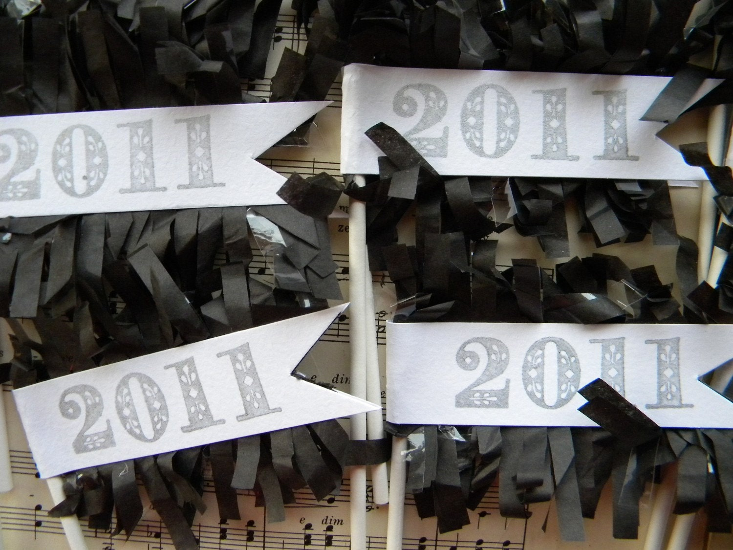 New Years 2011 Cupcake Toppers ... set of 12