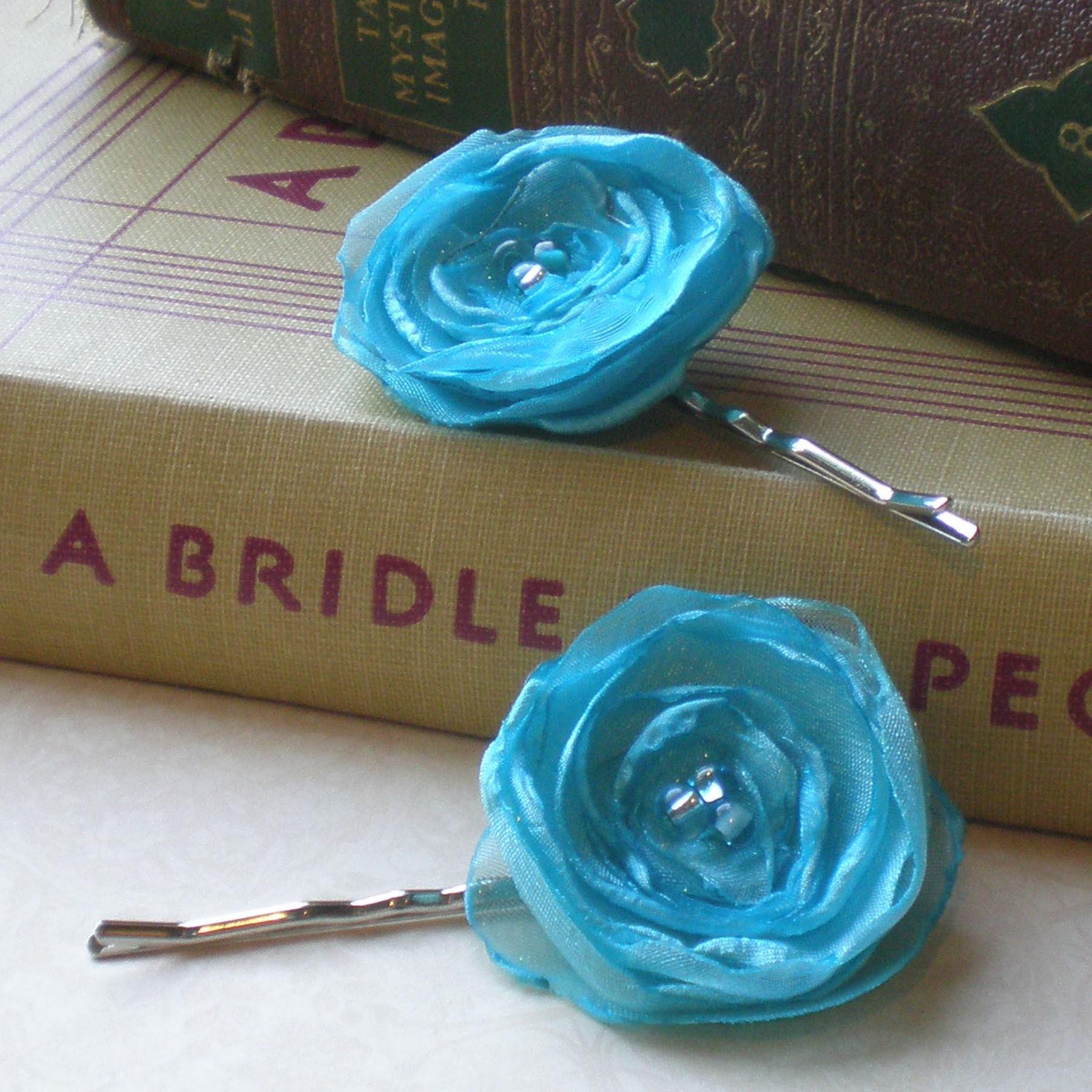 Secret Garden, Calypso Sky Poppy Hair Pins