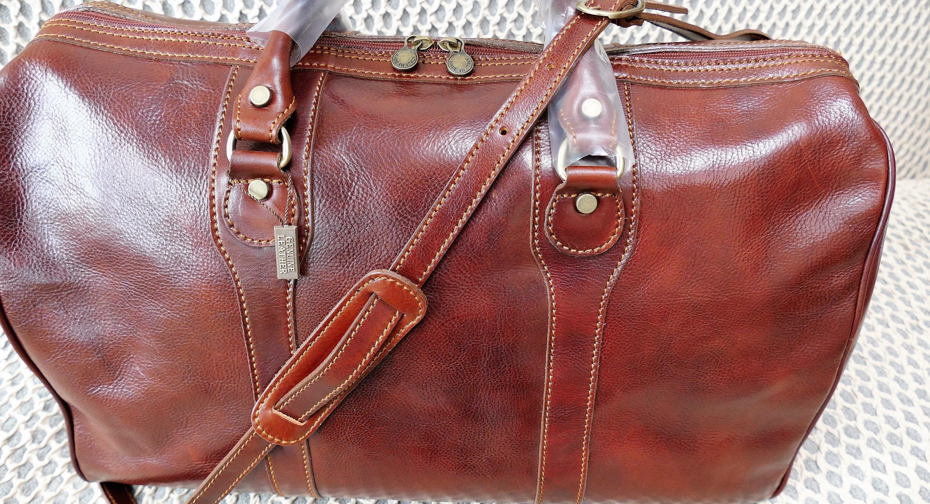 Genuine Leather Duffel Bag Travel Bag Weekend bag Real Leather Unisex Travel Bag Italian Leather Cabin Bag Brand New