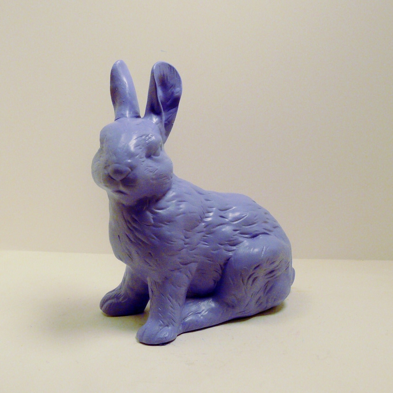 Ceramic Bunny Rabbit Figurine Lilac Purple By Nashpop
