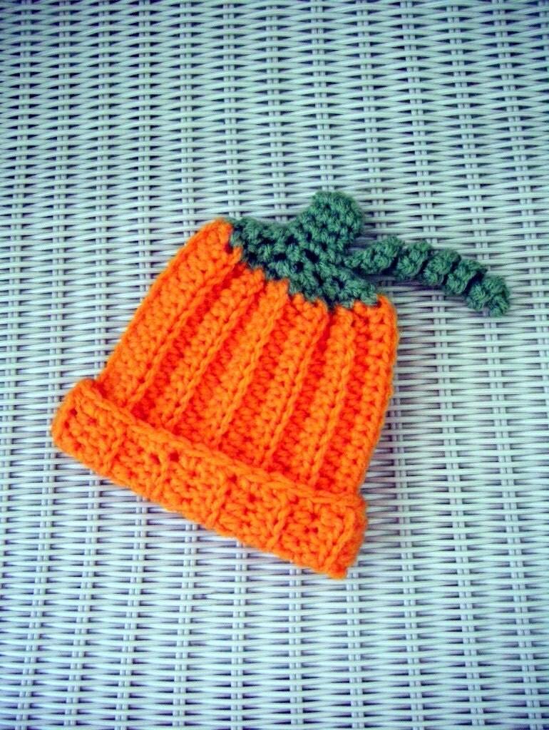 Pumpkin Hat Newborn Crocheted