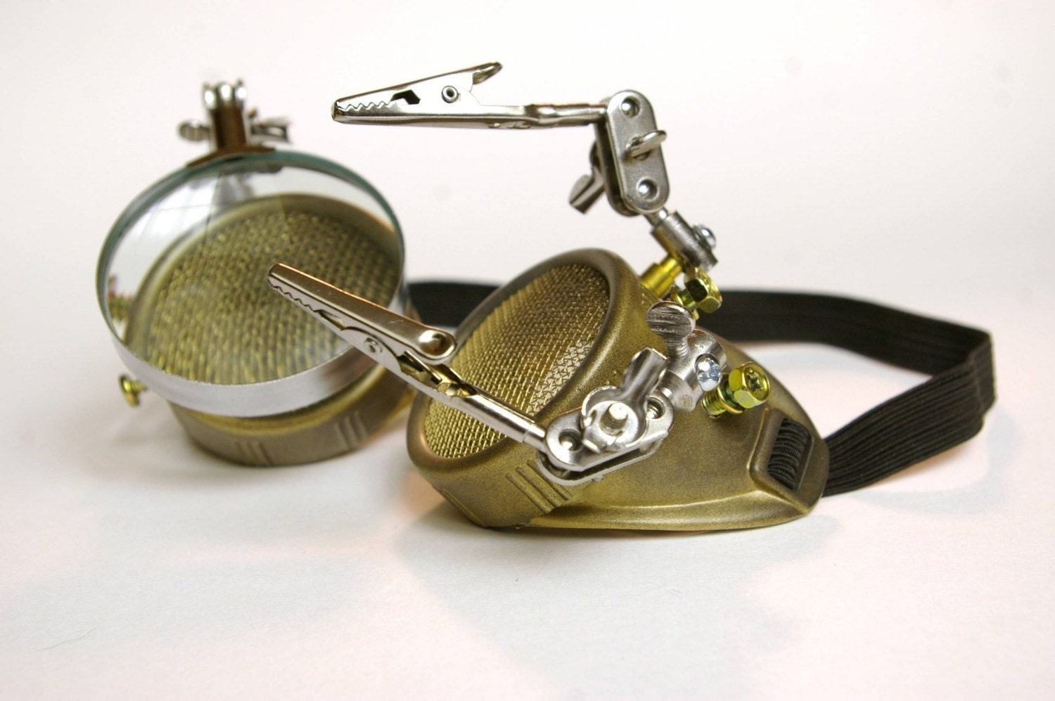 Custom Made ARMED SteamPunk Goggles By Panzer Kitty