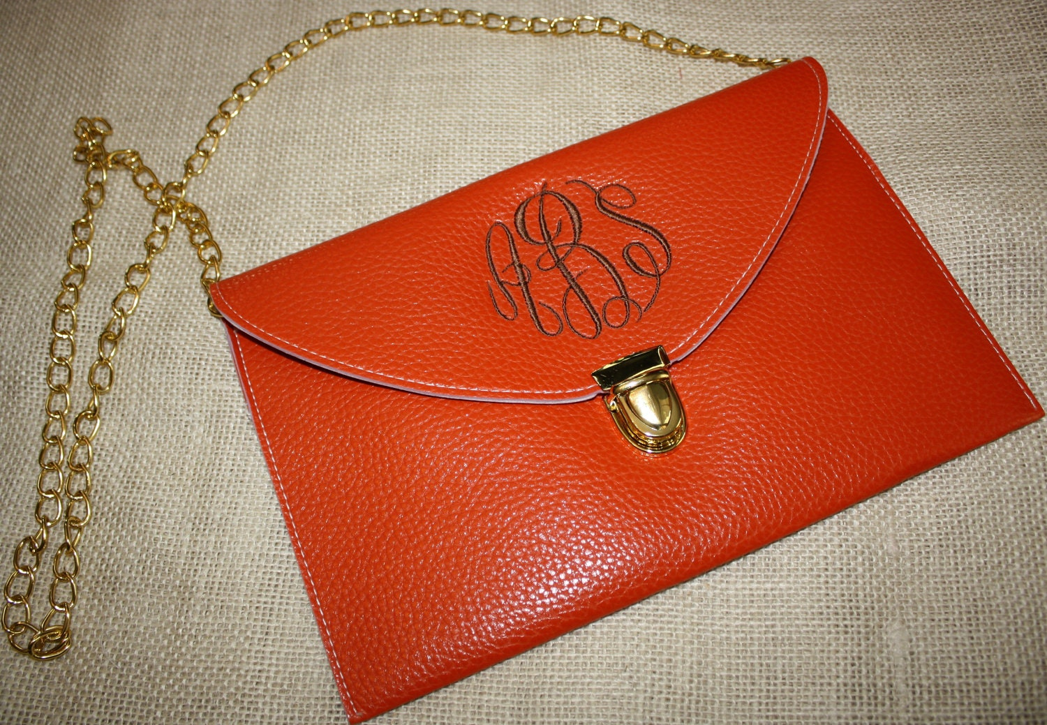 Monogrammed Women's Clutch Purse Crossbody