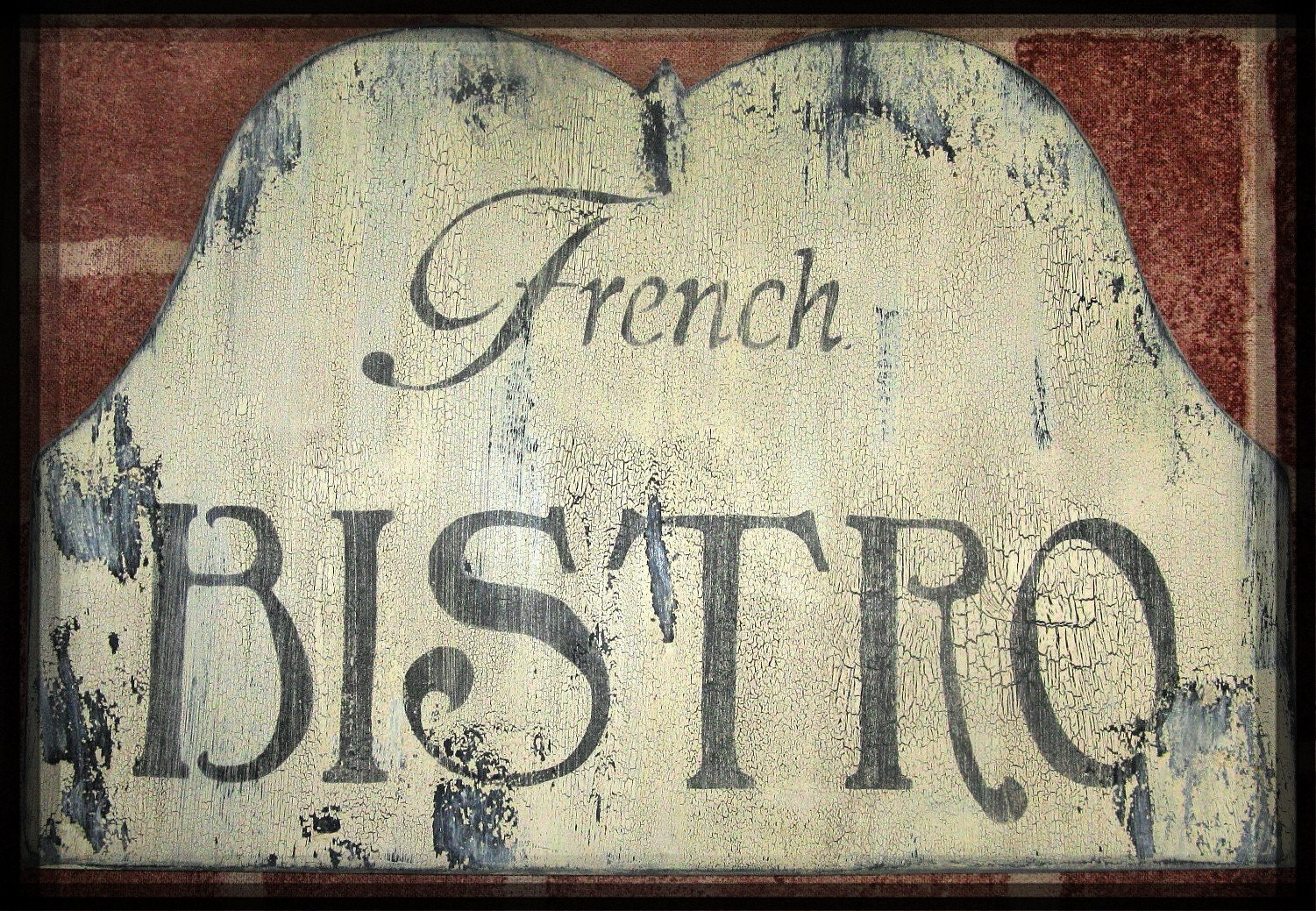 Vintage french bistro sign french country paris by mypaintedporch - Il cottage paris ...