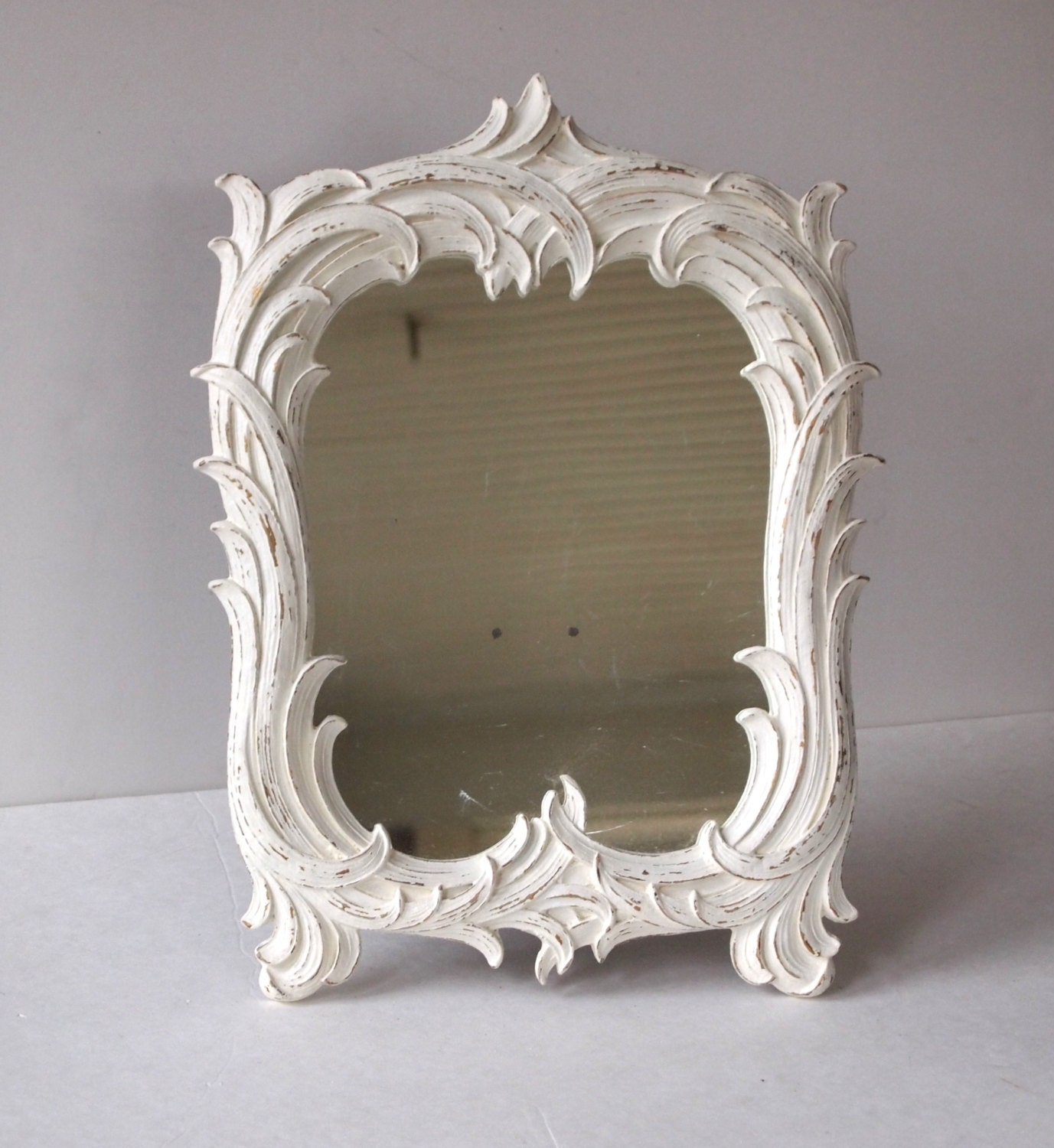 Mirror Vintage Home Decor Syroco Wood Hand by MollyMcShabby