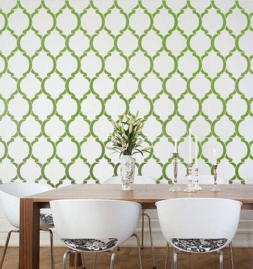 Wall Stencil Moroccan Dream, reusable stencils for walls instead of wallpaper, great for DIY decor