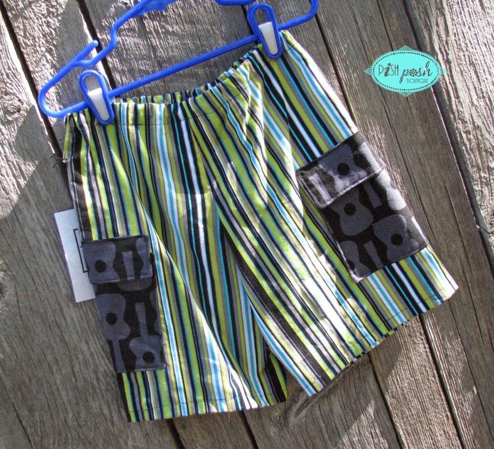 Boys Cargo Shorts- size 4- READY TO SHIP