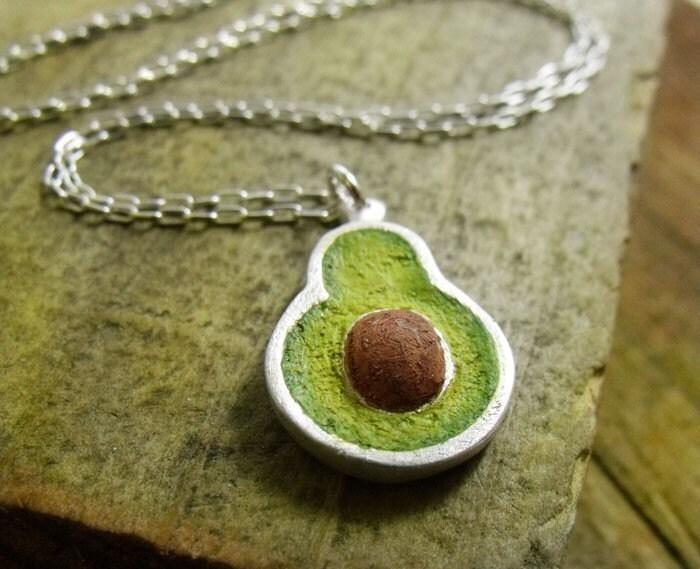 Food Jewelry - Avocado Earrings