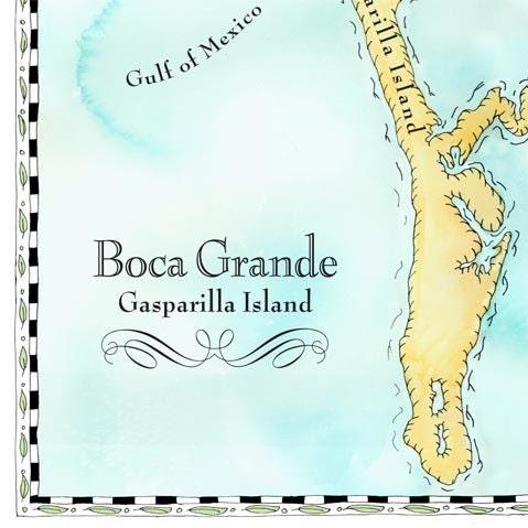 Boca Grande, Gasparilla Island Map