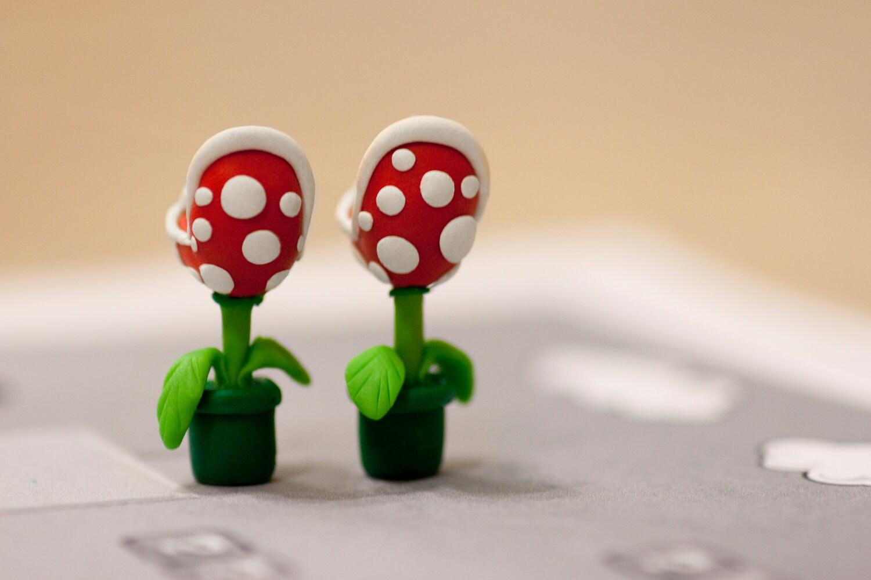 Nintendo Mario YOUCH Piranha Plant Earrings            Back Order