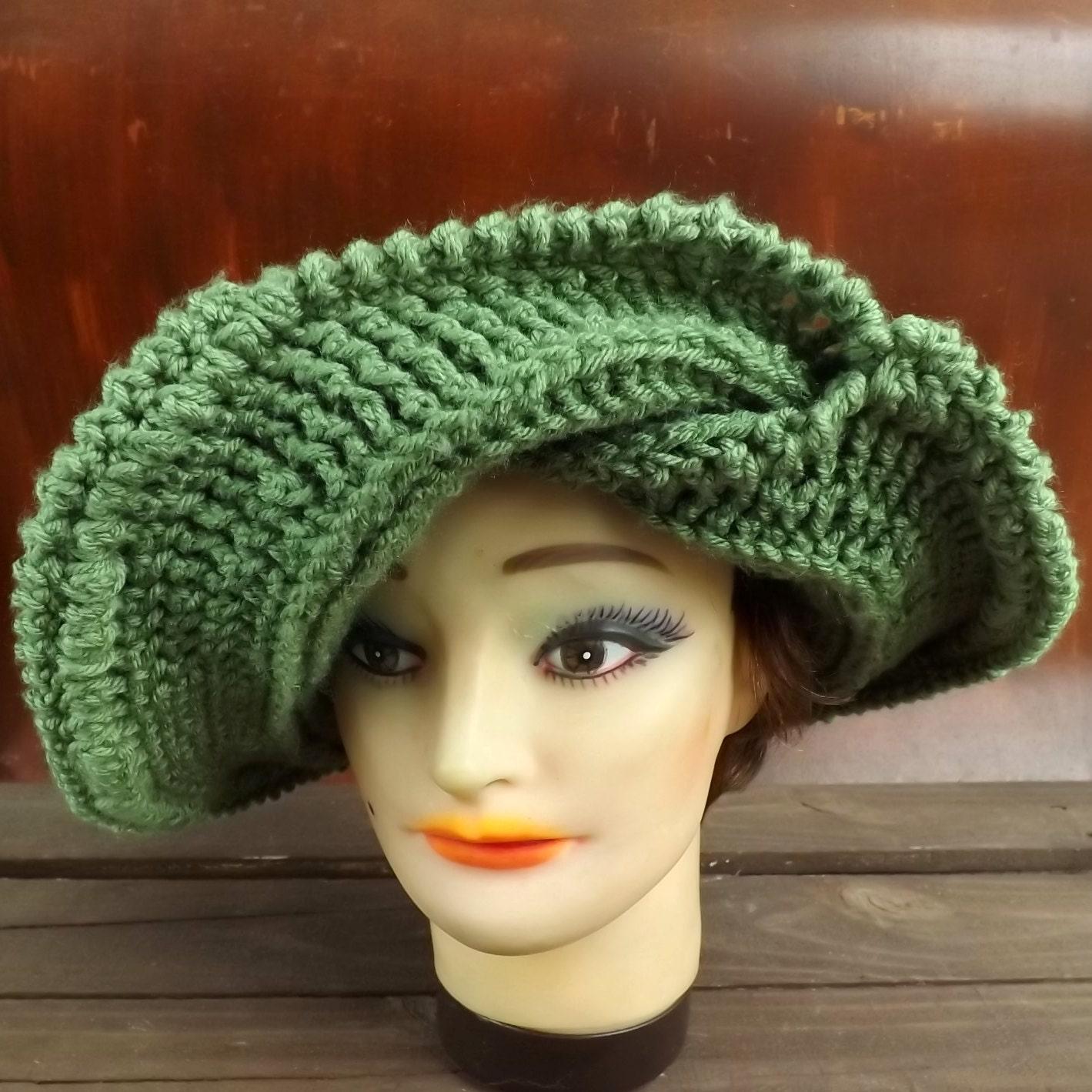 Crochet Hat Pattern FRONTIER Wide Brim Hat by ...