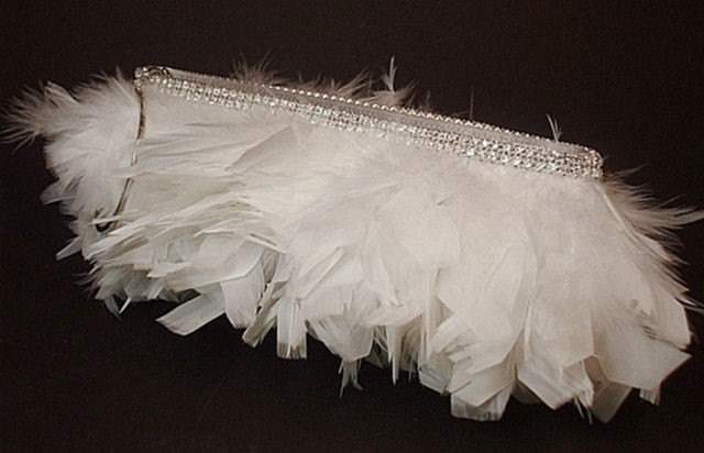 Mae - White Feather (AS SEEN IN INSIDE WEDDINGS MAGAZINE)