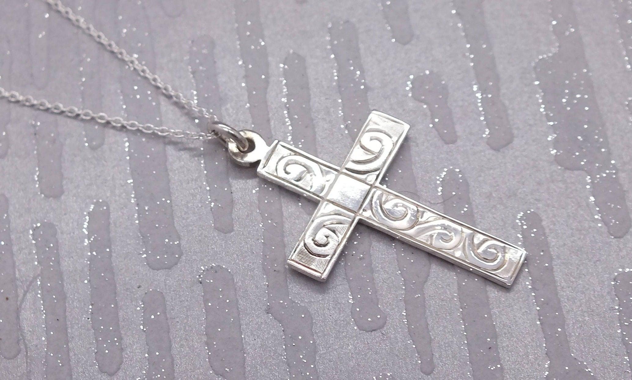 Silver Cross Necklace Sterling Cross Cross Pendant Silver Cross Cross Necklace Silver Necklace Silver Pendant Cross Jewellery