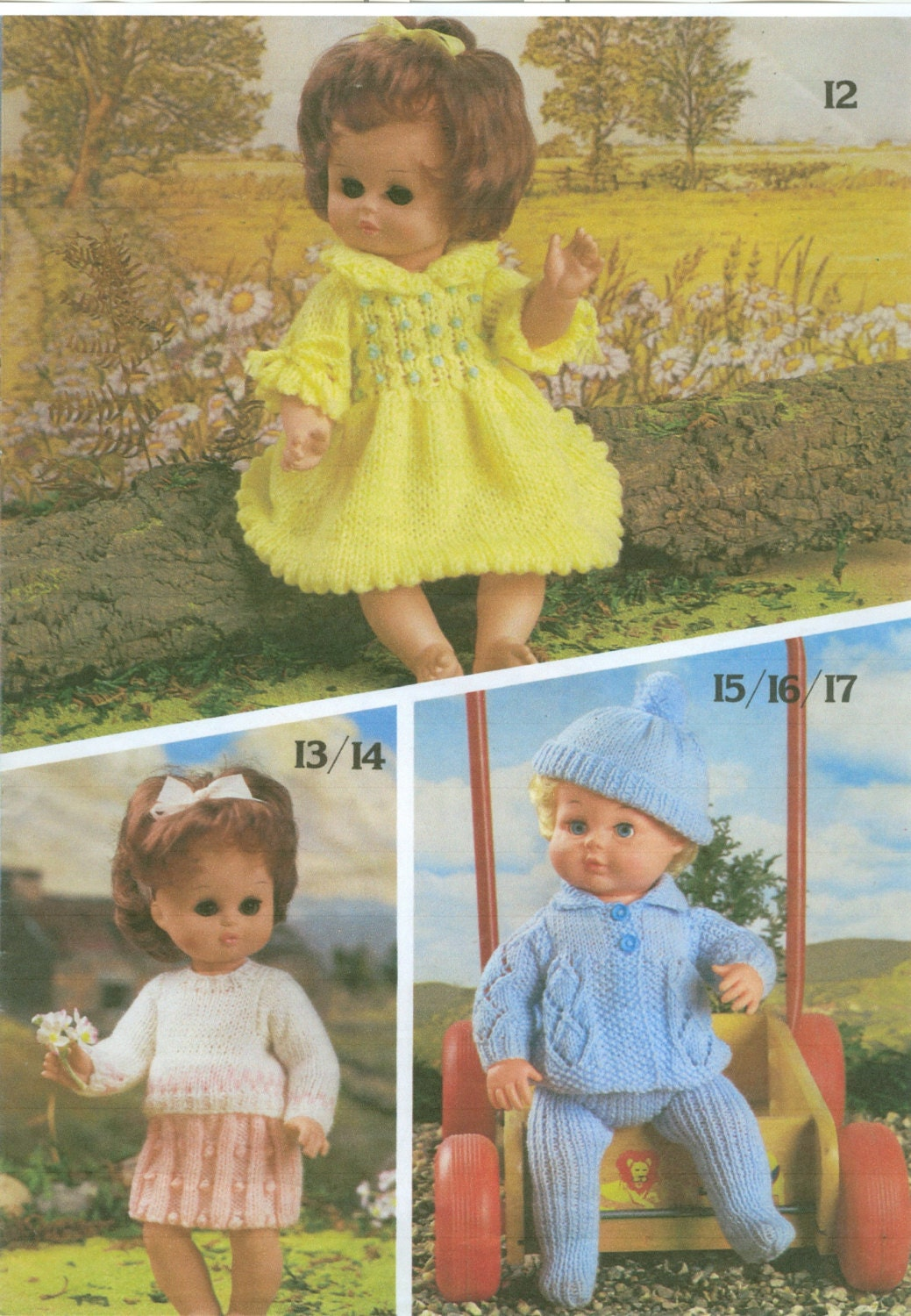 Knitting Patterns For Baby Dolls Clothes Old Style : Doll Clothes Knitting Pattern Book Fashion and Baby by dianeh5091