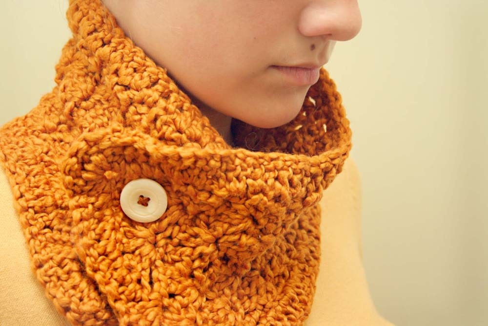 Pumpkin Spice Organic Cotton Scarflette/Collar