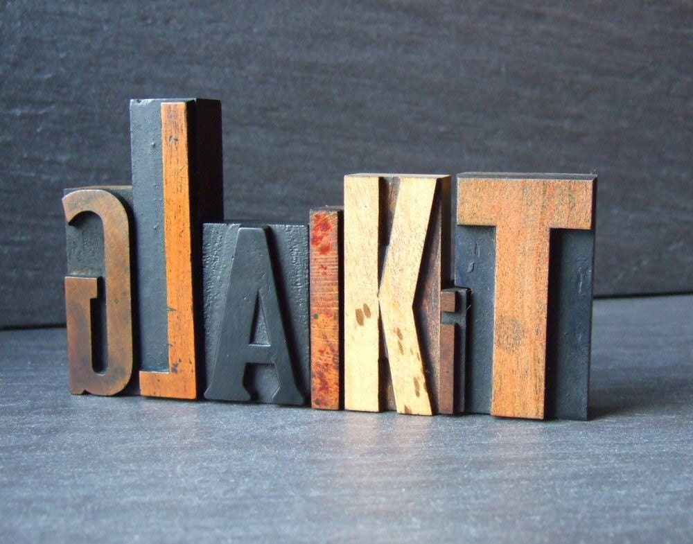 GLAIKIT - Scottish Letterpress Word