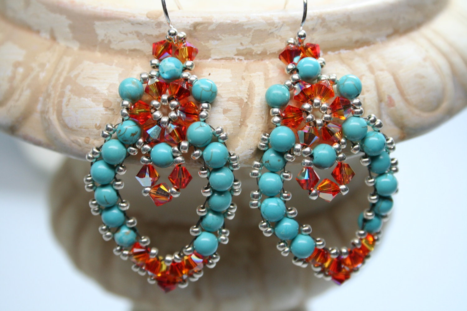 Mexican embroidery lace chandelier earrings createdbycarla mexican embroidery lace chandelier earrings mozeypictures Images