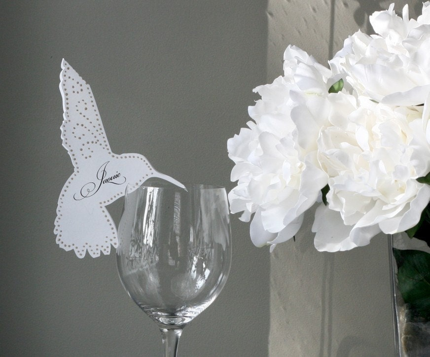 hummingbird placecard