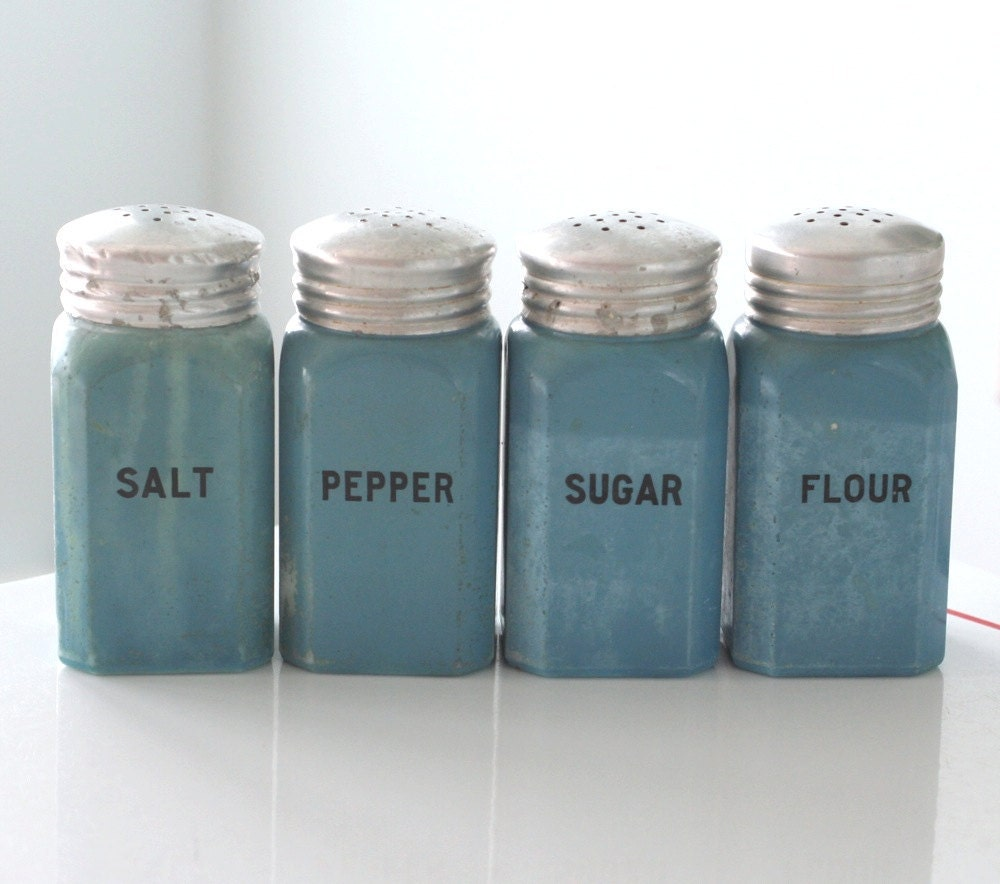 Set of 4 Fired-On Blue Range Shakers - jaditekate