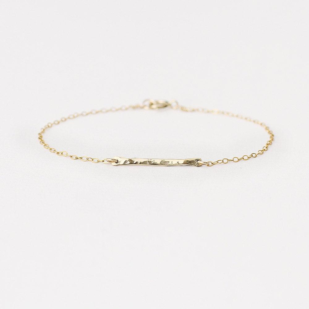 Lux  14k gold bar bracelet  horizontal gold bar bracelet  delicate gold bracelet  minimal jewellery  bridesmaids gift