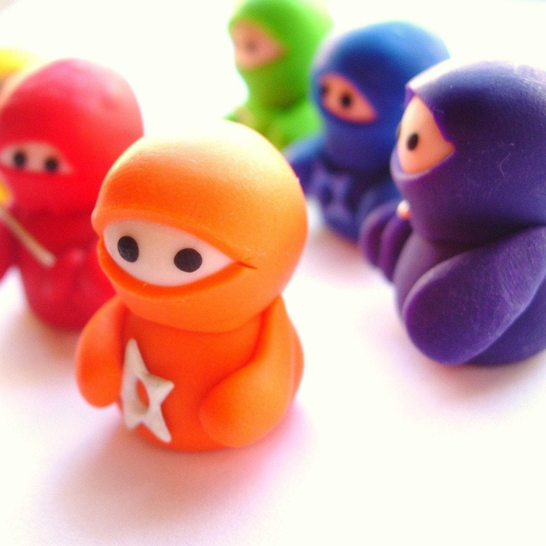 Set of 6 Rainbow Ninja Companions
