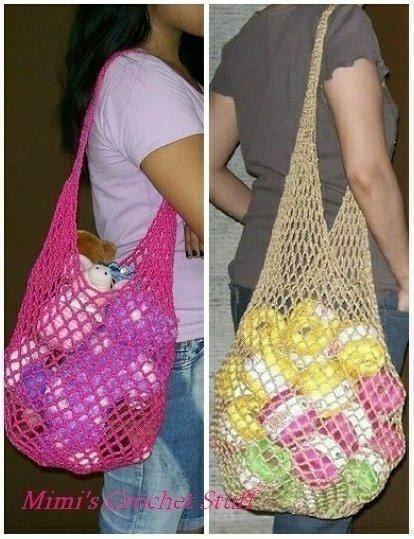 Crochet Mesh Bag Pattern : Crochet Mesh Bags PDF pattern by mimicrochet on Etsy
