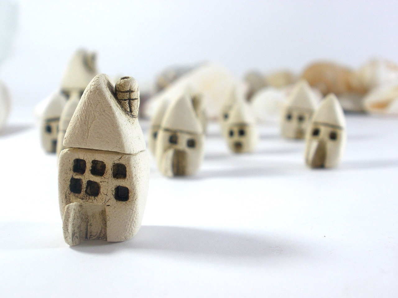 Rustic Beach cottage A tiny house - miniature ceramic house Home decoration Collection  Little house - orlydesign
