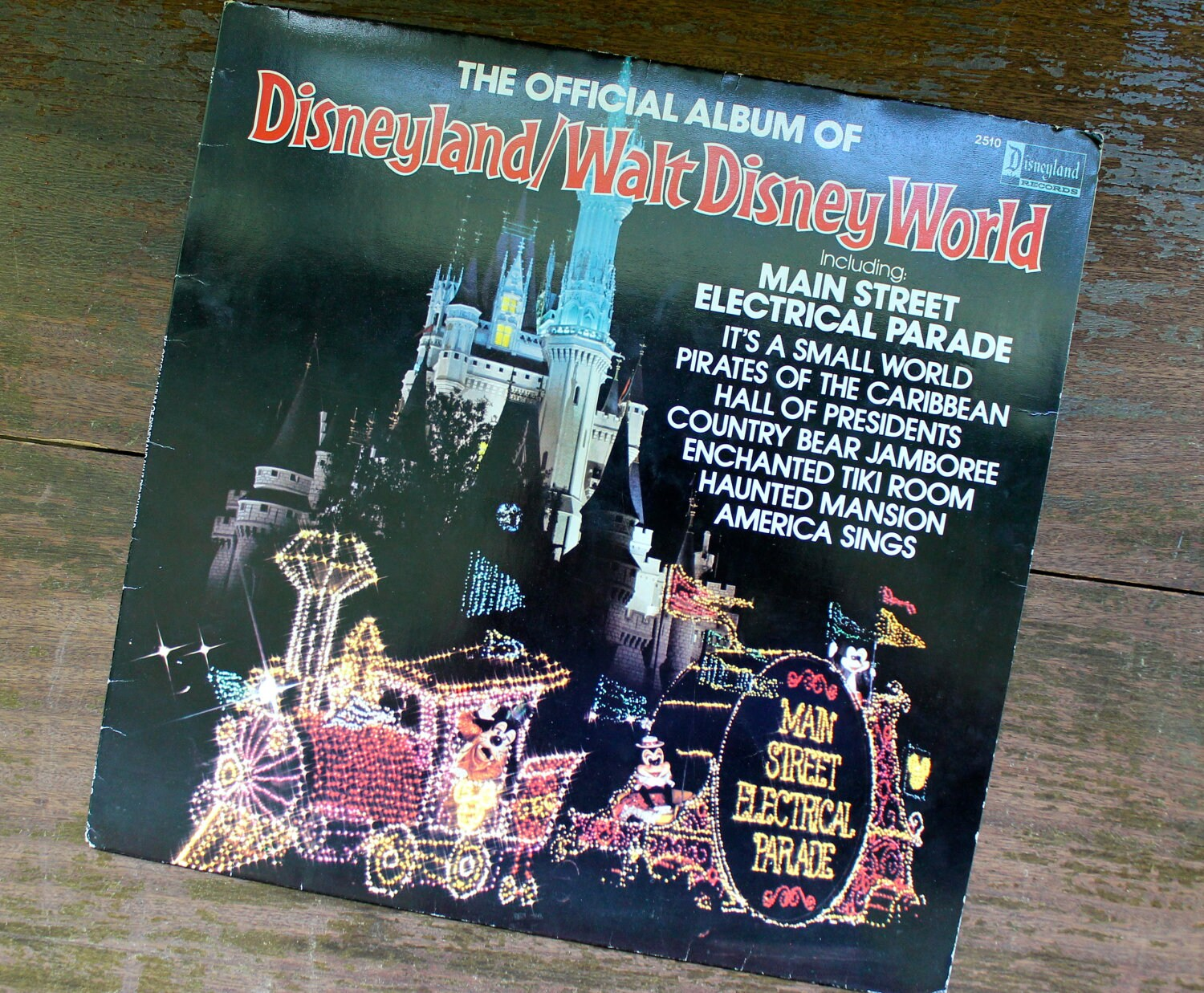 Disneyland Walt Disney World Vintage Record Album By Downstate