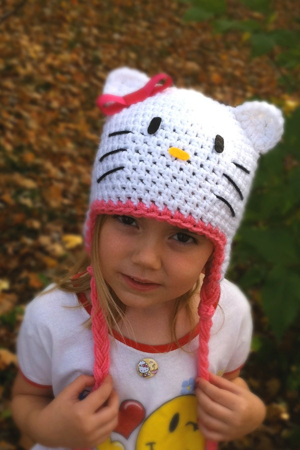 Pink Hello Kitty Hat -- pre TEEN & ADULT SIZES