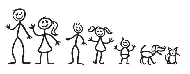 Stick Figure Family Style no 1 you pick up to 6 figures