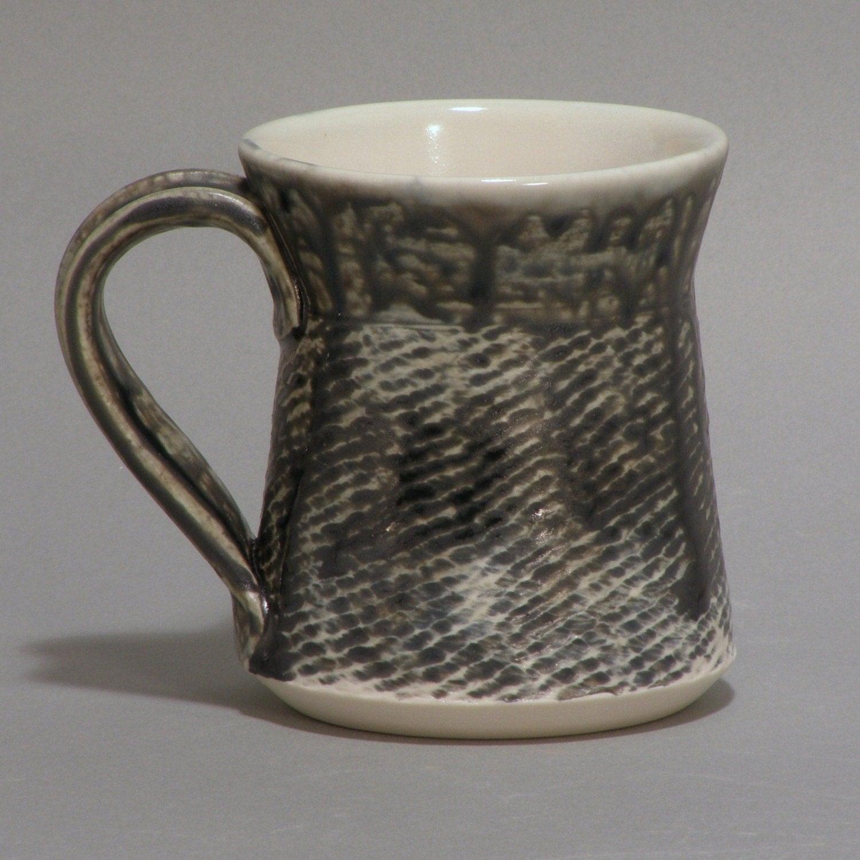 Porcelain Mug with Dark Blue Glaze