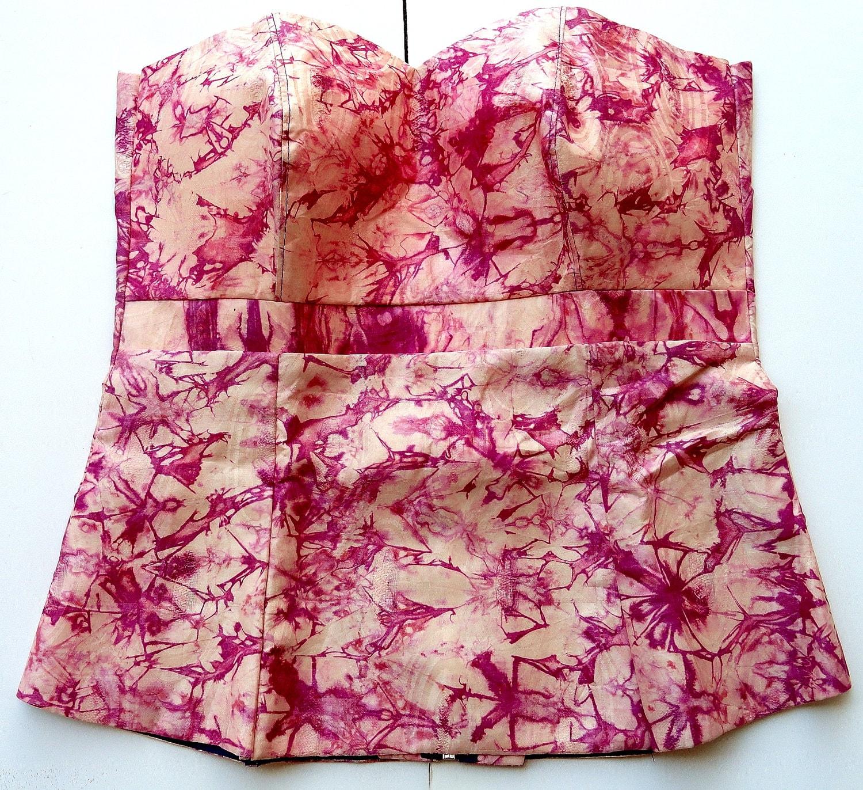 African tie dye  bustier top