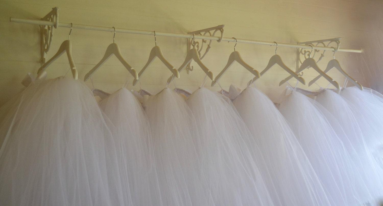 Girls tutu LongCalf length white tutu flower girl tutu skirt tutu dress tea length tulle skirt tutu skirt flower girl dress